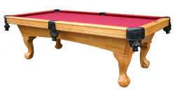 Glacier Pool Table in Wheat Finish